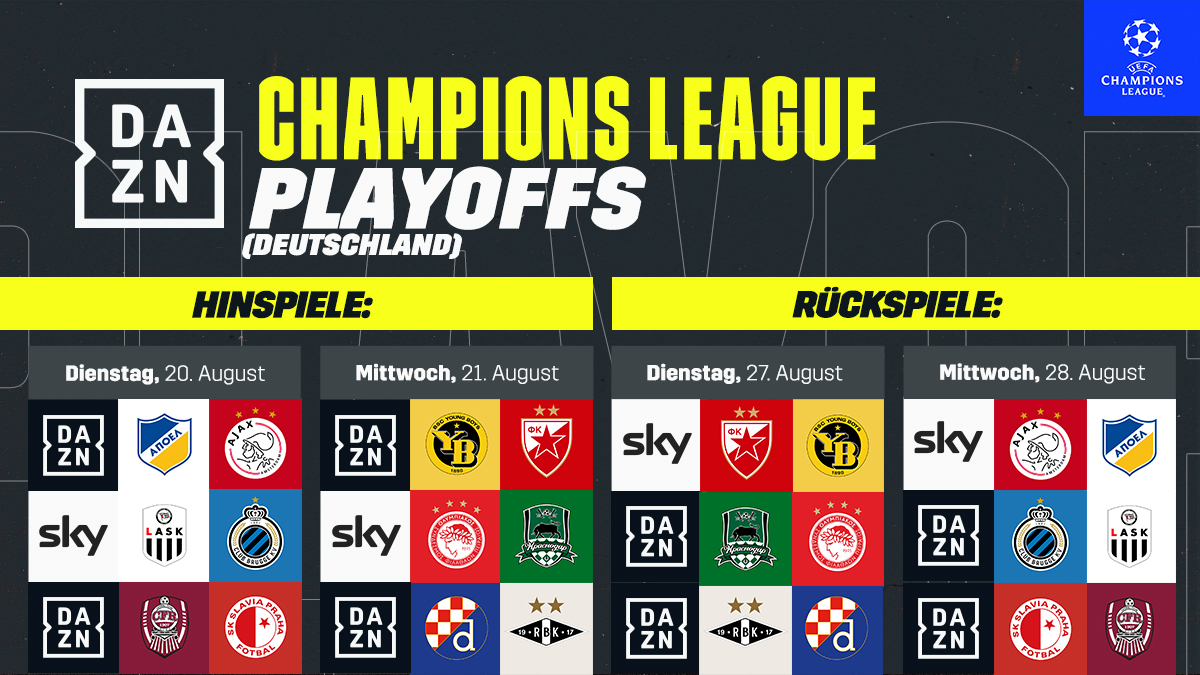 dazn help uefa champions league 2019 2020 that s how dazn shows the season uefa champions league 2019 2020